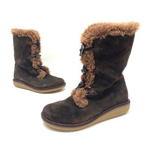 Earth shoe women's toggle winter boots size 7